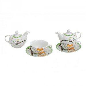 Tea for one: Theekan met kopje 'vos en uiltje'