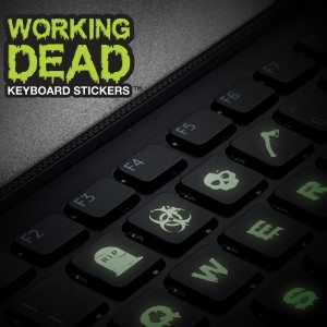 ''The working dead'' - lichtgevende toetsenbord stickers