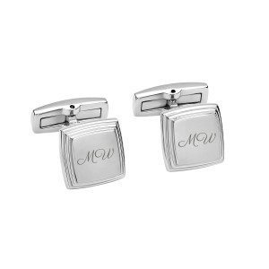 UNIQUE JEWELRY PEROSNALIZED CUFFLINKS WITH INTITIALS