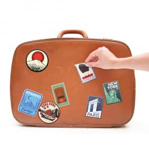 Vintage kofferstickers