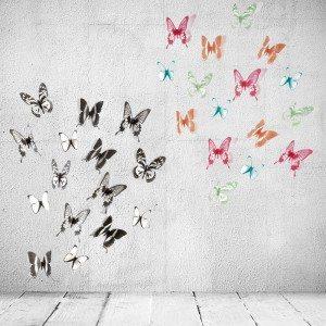Wanddecoratie ''vlinders''