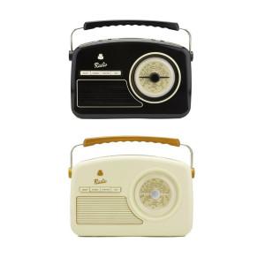 Wekkerradio in 50's-design- nostalgie voor in de slaapkamer