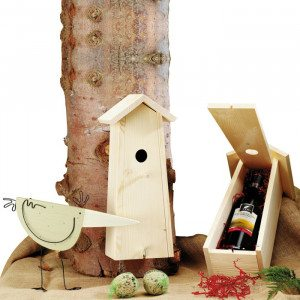 """Wijn-geschenkset """"Vogelhuisje"""""""