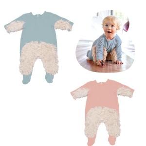 Witziger Babymop-Strampler