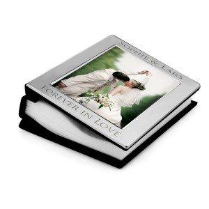 Zilveren fotoalbum met gravure