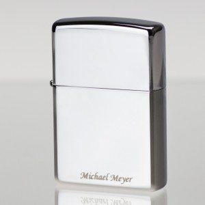 Zippo-aansteker met tekstgravure