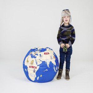 "Zitzak ""Wereldbol"" - comfortabel en praktischj"