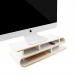 2in1: monitorstandaard & bureau-organizer - wit