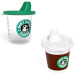 Baby drinkbeker in koffie-to-go stijl - de kleine drinkt koffie