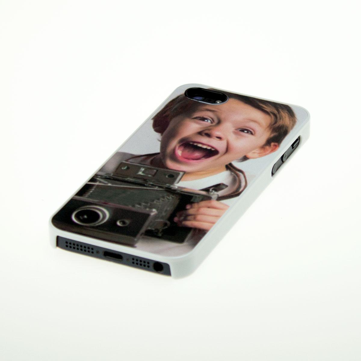 iPhone 5 hoesje met foto wit