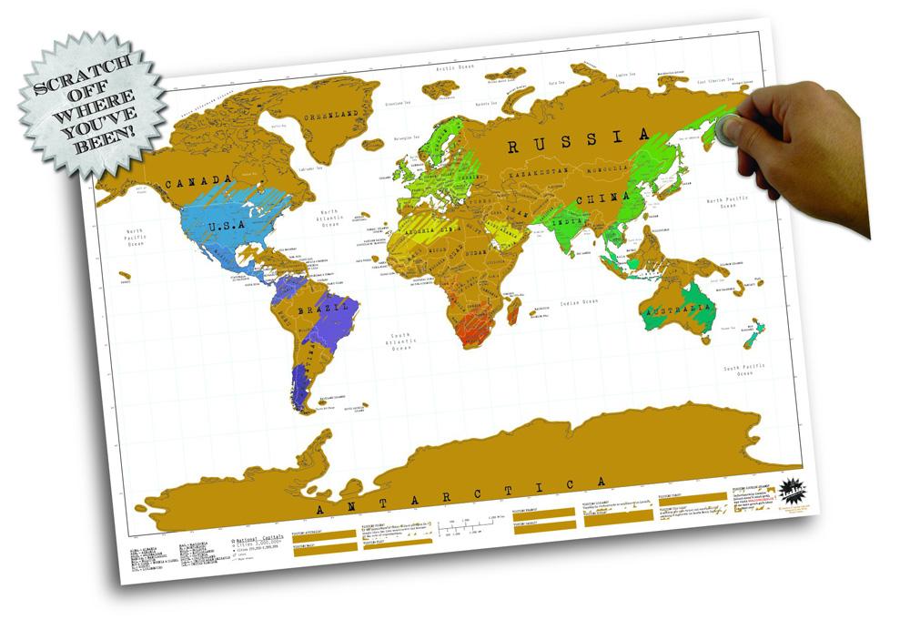 Luckies Scratch Map Persoonlijke wereldkaart