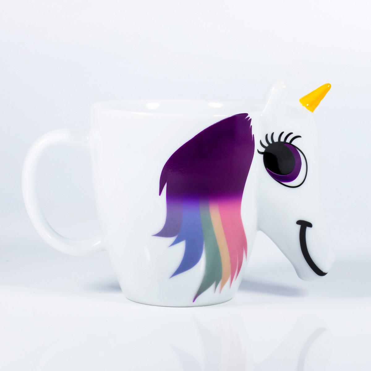 Afbeelding Unicorn Mok met Warmtemeter - Wit door YourSurprise.nl